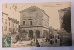 88 FONTENOY-Le-CHÂTEAU Vosges - Hôtel-de-Ville Et Ecole Des Garçons - Other Municipalities