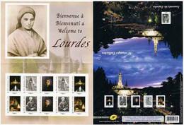 Collector 2012 - Bienvenue à Lourdes - 10 TP Adhésifs Lettre 20 G Monde - Collectors
