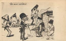 Caricature - Un Nouvelle Architecte : Guillaume WW1 - Guerre 1914-18