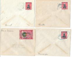 (C01) HAITI - LOT DE 17 ENVELOPPES / COVERS - OBLITERATIONS PETITES VILLES / SMALL POST OFFICES - CIRCA 1957 - Haiti