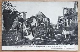 Ruines De Langemarck Coin De La Rue De La Gare - Langemark-Poelkapelle