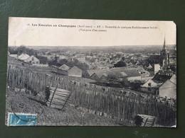 LES EMEUTES EN CHAMPAGNE- AY-Ensemble De Quelques établissements Brulés (vue Prise D'un Coteau) - Ay En Champagne