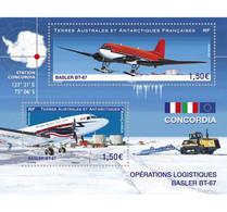 2021-01- TAAF- FSAT- Stamps Face Value Price  AVION BLASTER BT67      MNH** - Antarctische Fauna