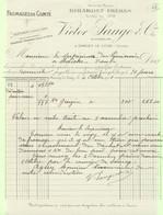 Facture : Fromages De Comté - Girardet Frères - Successeurs Victor Sauge & Co Sancey Le Long ( Doubs ) Le 4 Octobre 1911 - Alimentare