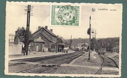 441-LANDELIES-la Gare Station Statie-edit Nels-cachet Etoiles-wagon - Montigny-le-Tilleul