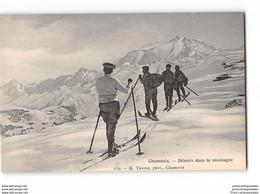 CPA 74 Chamonix Skieurs Dasn La Montagne - G. Tairraz - Chamonix-Mont-Blanc
