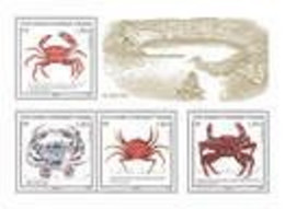 2021-01- TAAF- FSAT- Stamps Face Value Price CRABES ET ETRILLES     MNH** - Antarctische Fauna