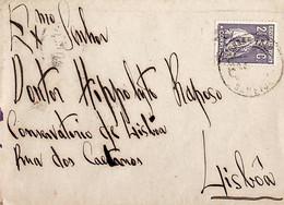 1917. Portugal. Ceres. Carta Enviada De Sameice (Seia) Para Lisboa - Maschinenstempel (Werbestempel)