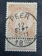 COB N° 62 Oblitération Peer 1898 - 1893-1900 Thin Beard