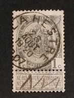 COB N° 53 Oblitération La Hestre 1907 - 1893-1900 Thin Beard