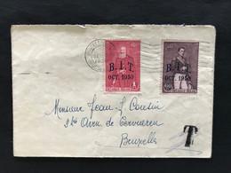 Brief 1930 Met OBP 305+306 BIT - Geannuleerde Taxering - Storia Postale