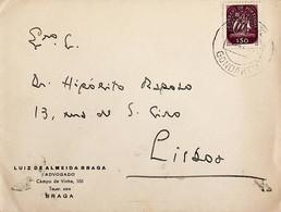 1949. Portugal. Carta Enviada De Gondarém Para Lisboa - Maschinenstempel (Werbestempel)