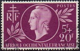 Détail De La Série Entraide Française Obl. Afrique Occidentale N° 1 - Marianne De Dulac - 1944 Entraide Française