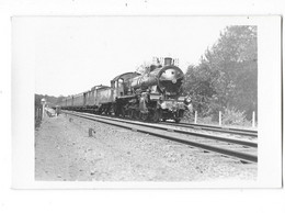 LOCOMOTIVE A VAPEUR Carte Photo Machine Des Chemins De Fer Du Nord Train  Gros Plan - Materiale