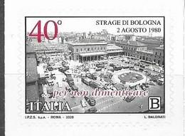 ITALY, 2020, MNH,BOLOGNA TRAGEDY, BOMBING OF BOLOGNA TRAIN STATION,1v - Andere