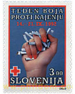 Ref. 209041 * MNH * - SLOVENIA. 1992. FIGHT AGAINST CIGARETTE SMOKING . LUCHA CONTRA EL TABAQUISMO - Tobacco