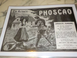 ANCIENNE PUBLICITE EN ALSACE NOTRE PHOSCAO 1915 - 1914-18