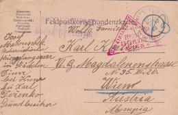 Feldpostkarte - POW Kriegsgefangener - Dimer B. Kiew - Zensur Odessa Wien - 1916 (53710) - Briefe U. Dokumente