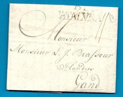 SPAIN / ESPAGNE - Barcelone / Barcelona Pour GAND ( Pays Bas Autrichiens) - 1784 - ...-1850 Prephilately