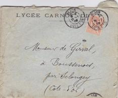 LAC De Dijon (21) Pour Boussenois (Selongey-21) - 22/07/1902 - Timbre 15c YT 117 - CAD Type 84 - Lycée Carnot - 1877-1920: Semi-moderne Periode