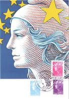 Carte Maximum YT 4474, 4476 Et 4477 Marianne De Beaujard 1er Jour 12 06 2010 TBE Paris (75) - 2010-...