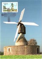 Carte Maximum YT 4487 Moulin à Vent Des Aigremonts Bléré 1er Jour 15 06 2010 TBE Paris (75) Les Moulins - 2010-...