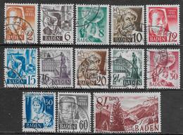 Germania Germany 1948 French Occupation Baden 13val Mi N.14-26 US - French Zone