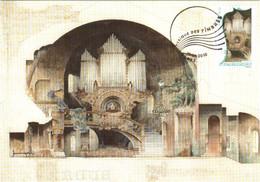 Carte Maximum YT AA396 Orgue Par François Garas 1er Jour 29 01 2010 TBE Paris (75) Art La Musique Des Timbres - 2010-...
