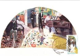 Carte Maximum YT AA399 Piano Par Pierre-Désiré Lamy 1er Jour 29 01 2010 TBE Paris (75) Art La Musique Des Timbres - 2010-...