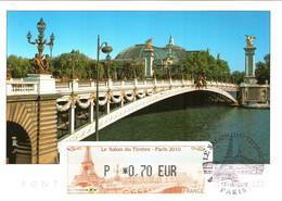 Carte Maximum Vignette LISA 859 Obl Spé Ill Salon Du Timbre 12 06 2010 0,70€ TBE Paris (75) Pont Alexandre III - 2010-...