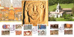 Série Complète Des Cartes Maximum 12 Timbres YT AA455 à AA466 L'Art Roman 1er Jour 3 Cachets 14 06 2010 TBE 4 Scans - 2010-...