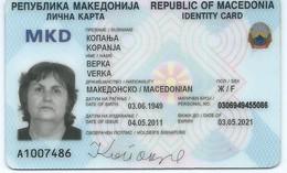 MACEDONIA, IDENTITY CARD - Documents Historiques