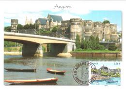 Carte Maximum YT 4543 Angers (Maine-et-Loire) 12 04 2011 TBE Cachet Anger Saint-Laud - 2010-...