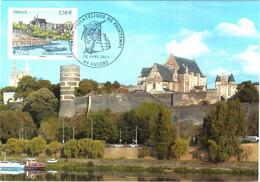 Carte Maximum YT 4543 Angers (Maine-et-Loire) Obl Spé Ill 1er Jour 08 04 2011 Salon Philatélique De Printemps TBE - 2010-...