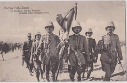 Cartolina Italia Guerra Italo-Turca La Bandiera Dell'84 Fanteria Medaglia D'oro Da Tripoli Col Piroscafo Postale Enna - Altri