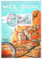 Carte Maximum YT 4564 Centenaire Chemins De Fer Provence, Train Des Pignes 1er Jour 24 06 2011 TBE Cachet PUGET-THENIERS - 2010-...