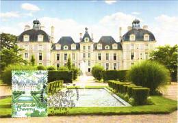 Carte Maximum YT 4580 Jardin Du Château De Cheverny 1er Jour 16 09 2011 TBE Cheverny (41) Jardins De France - 2010-...