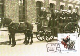 Carte Maximum YT 4582 Pompe Vapeur 1er Jour 16 09 2011 TBE Bicentenaire De La Brigade Des Sapeurs-pompiers De Paris (75) - 2010-...