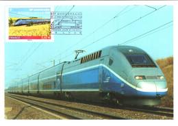 Carte Maximum YT 4592, 30e Anniversaire De La Mise En Service Du 1er TGV 1er Jour 27 09 2011 TBE Cachet LYON (69) - 2010-...