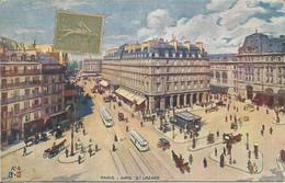 PARIS - GARE St LAZARE.(scan Verso) - Stations, Underground