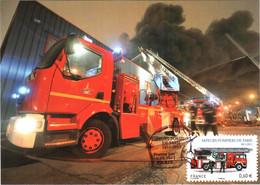 Carte Maximum YT AA 602 1er Jour 16 09 2011 TBE Bicentenaire De La Brigade Des Sapeurs-pompiers De Paris (75) Idem 4590 - 2010-...