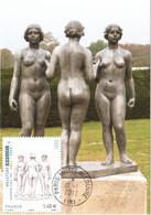 Carte Maximum YT AA 634 Les Trois Nymphes D'Aristide MAILLOL TBE Cachet Paris Musée Du Louvre 19 01 2012, (idem 4627) - 2010-...