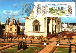 Carte Maximum Vignette LISA 1029 Obl Spé Ill 1er Jour Salon Philatélique De Printemps Angers 09 04 2011 0,58€ TBE - 2010-...
