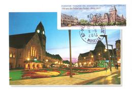 Carte Maximum Vignette LISA 1087 - 84e Congrès FFAP, 100 Ans Hôtel Des Postes De Metz 11 06 2011 0,58€ TBE - 2010-...