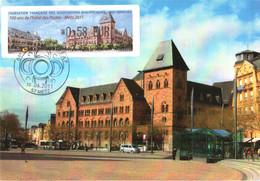 Carte Maximum Vignette LISA 1087 Obl Spé Ill 1er Jour 84e Congrès FFAP 100 Ans Hôtel Des Postes Metz 10 06 2011 0,58€ TB - 2010-...
