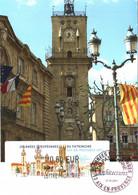 Carte Maximum Vignette LISA 1096 Obl Spé Ill 1er Jour Journées Européennes Du Patrimoine Aix-en-Prov 17 09 2011 0,60€ TB - 2010-...