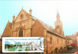 Carte Maximum Vignette LISA Obl Spé Ill Championnat Philatélique Interrégional Montlouis PHILAOUEST 14 05 2011 0,58€ TBE - 2010-...