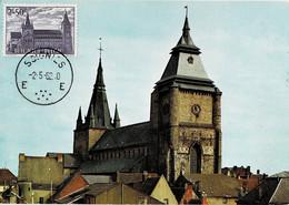 Soignies La Collégiale Romane De Saint-Vincent Circulée En 1962 - Soignies