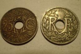 1927 - France - 25 CENTIMES, Lindauer, KM 867a, Gad 380 - F. 25 Centesimi
