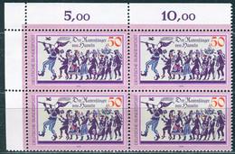 A14-19-8) BRD - 4x Mi 972 ⊞ ECKE LIO ✶✶ - 50Pf              Rattenfänger Von Hameln - Unused Stamps